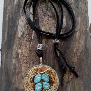Embroidered Bird's Nest Necklace