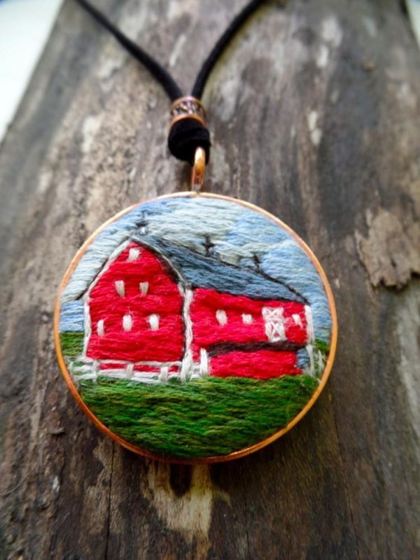 Red Barn Necklace