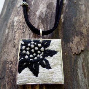 Square Sunflower Necklace