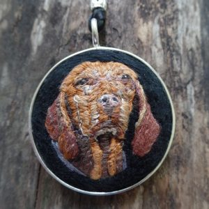 Custom Vizsla Necklace