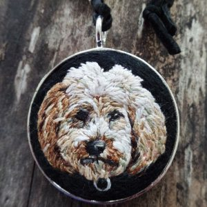 Custom Goldendoodle Necklace