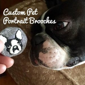 Custom Pet Portrait Brooches