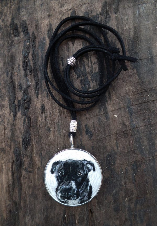 Custom Dog Portrait Necklace