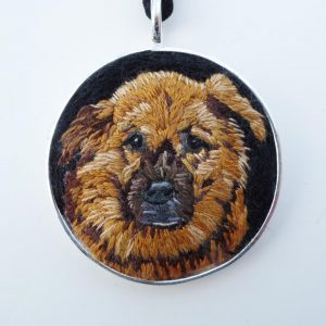 Custom Dog Portrait Necklace