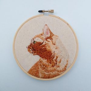 Custom Hand Embroidered Pet Portrait