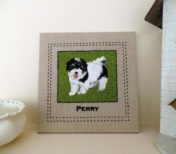Custom Square Shaped Pet Portrait