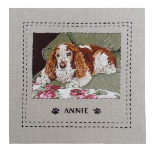 Custom Square Pet Portrait with Name & Trim