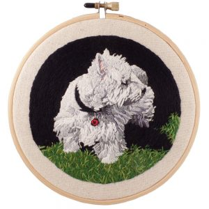 Custom Embroidered Pet Art