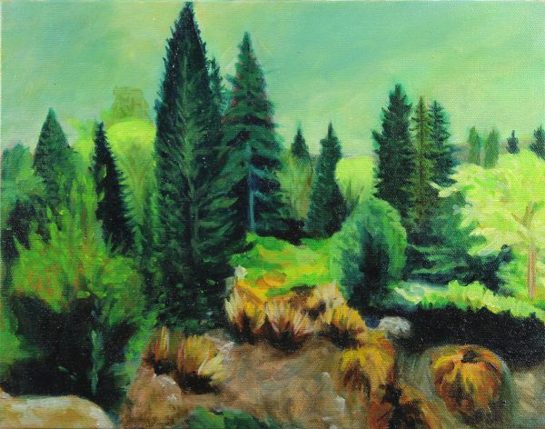 small-Travel-oil-painting-green-garden-from seattle